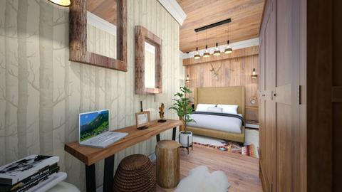 mountain bedroom - Rustic - Bedroom  - by Bianca Interior Design