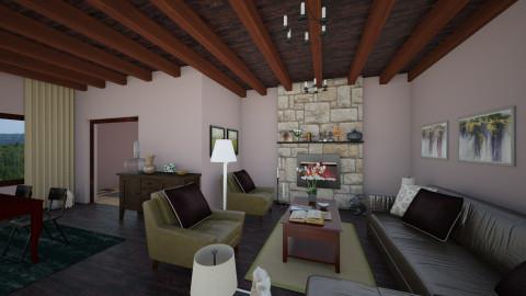 Rustic Retreat - Rustic - Living room  - by Raquel Collison