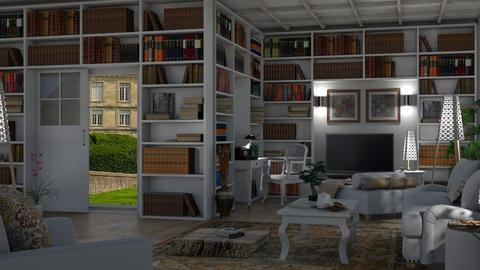 large home library - Classic - Living room  - by nat mi