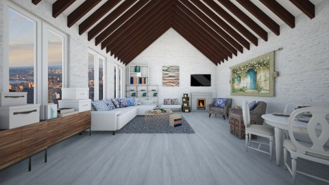 Vaulted Ceiling - Eclectic - Living room  - by deleted_1524503933_Architectural