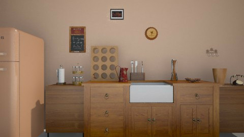 First Kitchen - Country - Kitchen  - by Linda Laura Li