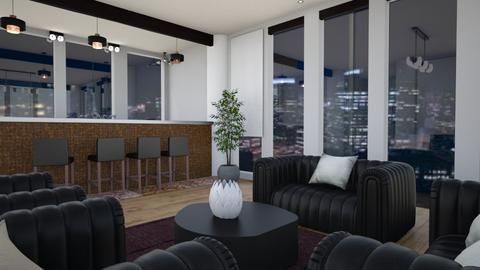 BLACK BAR - Living room - by Caye