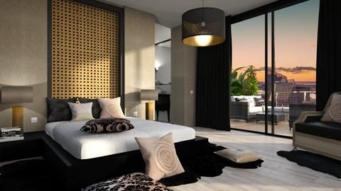 462 - Glamour - Bedroom  - by Claudia Correia