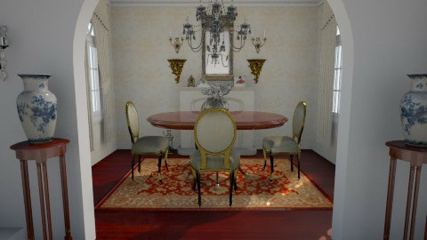 entry - Dining room - by crystal aston
