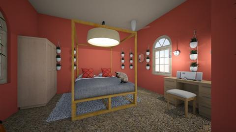 Salmon - Bedroom  - by Layken  DeCoria
