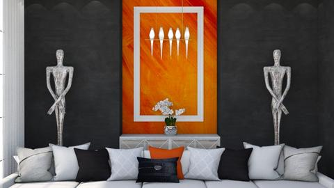 Orange and White 2 - Living room  - by igell90