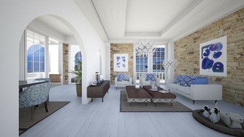 Mediterranean - Eclectic - Living room  - by liling