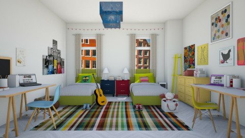Shared bedroom - Kids room  - by martinabb