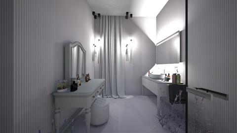 lavender bathroom - Feminine - Bathroom - by AJLoveDesigns