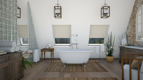 Design 290 Attic Guest Bathroom - Bathroom  - by Daisy320