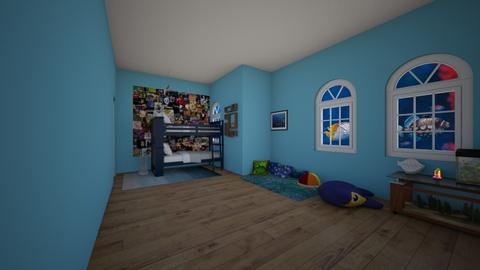 fish room - Kids room  - by wolfiewolf123