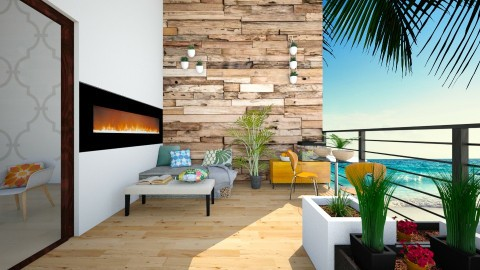 Tropical Small Balcony - Minimal - Garden  - by bgref