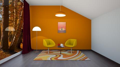 simple series orange  - Rustic - Living room  - by martinini