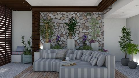 small living patio - Living room  - by nat mi
