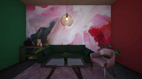 artsy living room - Living room  - by ttiavlc