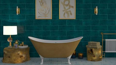 Turquoise Bath - Bathroom - by kyrabaldwin