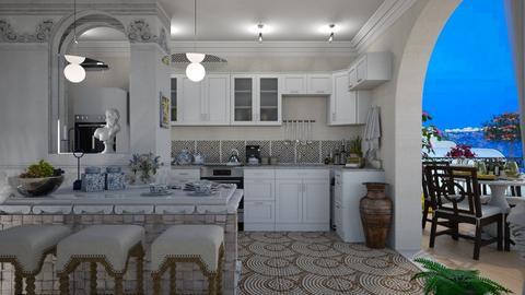 Greek kitchen - by nat mi