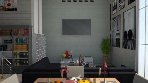 Industrial Living Room - Rustic - Living room  - by ayudewi