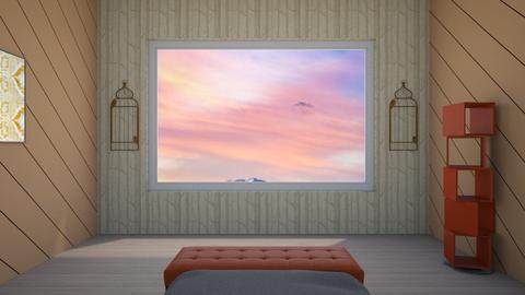 orange orange and orange - Modern - Bedroom  - by taebay1 OSG