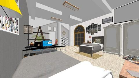student room_rent_rmx - Glamour - Bedroom  - by PAPIdesigns