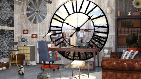 Steampunk Office - Office - by ArtHousedeco