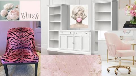 Kolaz pink office 5 - by Gagany