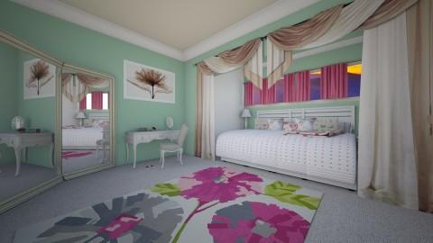 fresh bed - Vintage - Bedroom  - by donella