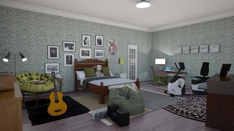 teen bedroom in sage - Bedroom  - by steker2344