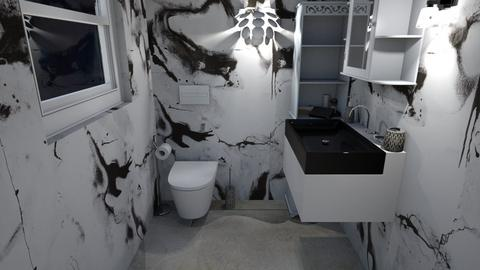 Black and White toilet - Modern - Bathroom  - by Oyisha