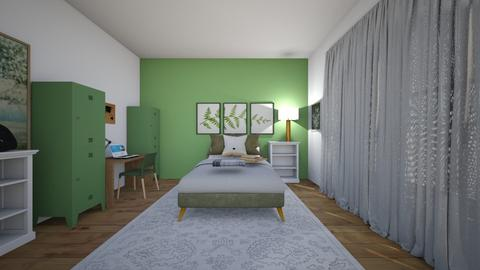 sage green paradise - Retro - Bedroom  - by Whitley McMurry