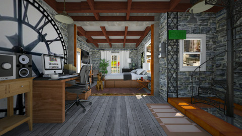clock tower - Vintage - Bedroom  - by ferguesfalls
