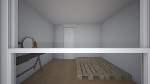 minimal bedroom tiny flat - Minimal - Bedroom  - by allygrl