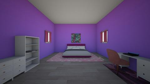 Purple and Pink Bedroom - Bedroom  - by valentena