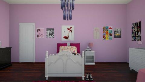 teen bedroom - Feminine - Bedroom - by jria8