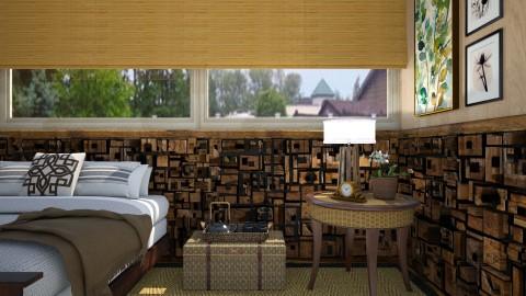 Wood Scene - Rustic - Bedroom  - by Veny Mully