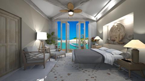 Summer Beach Bedroom - by Themis Aline Calcavecchia