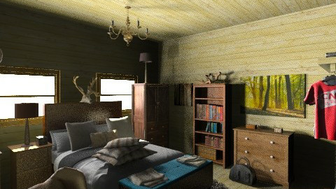 cabin room - Bedroom - by ferguesfalls