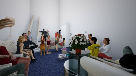 room of people - by aya senan