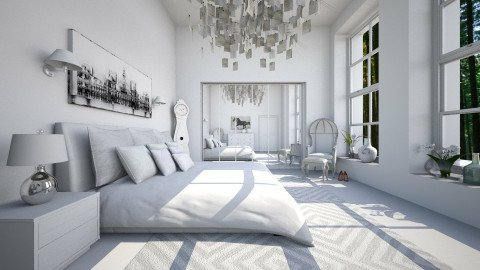 White on White - Bedroom  - by crosette