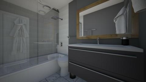 bathroom at daddys - Bathroom  - by Isabella Mastroianni