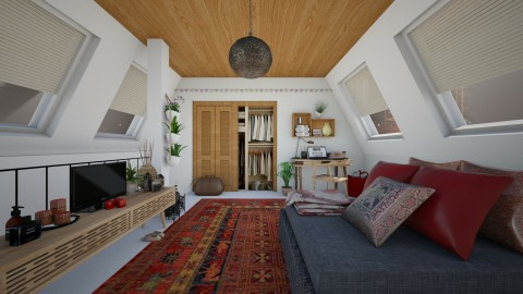 Room in the attic - Modern - Bedroom  - by Joao M Palla