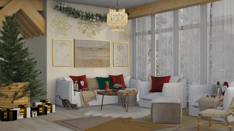 Wooden Christmas - Modern - Living room  - by NEVERQUITDESIGNIT