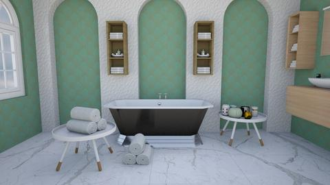 Art dec bath - Bathroom  - by Chayjerad