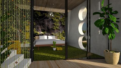 moss mural - Modern - Bedroom  - by jjannnii