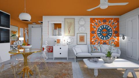 Orange and white A - Eclectic - by augustmoon