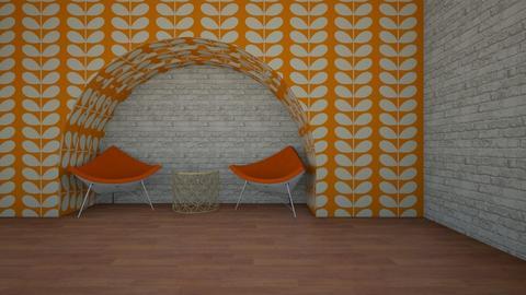 Orange White Apartment - Living room  - by stmaiorino