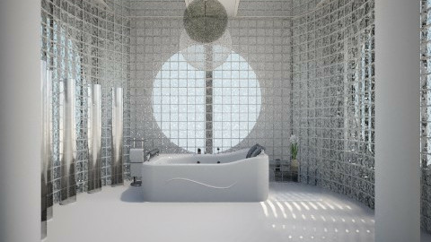 white bath - Eclectic - Bathroom  - by Ana Quintero