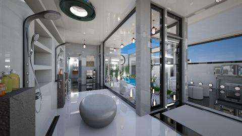 Over the Water Shower OTW - Modern - Bathroom  - by Amyz625