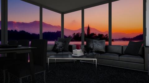 Sky Lake - Living room  - by KittyT6