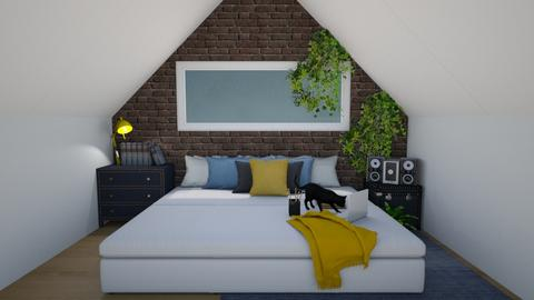 Attic Room - Modern - Bedroom  - by WhyIsGamora
